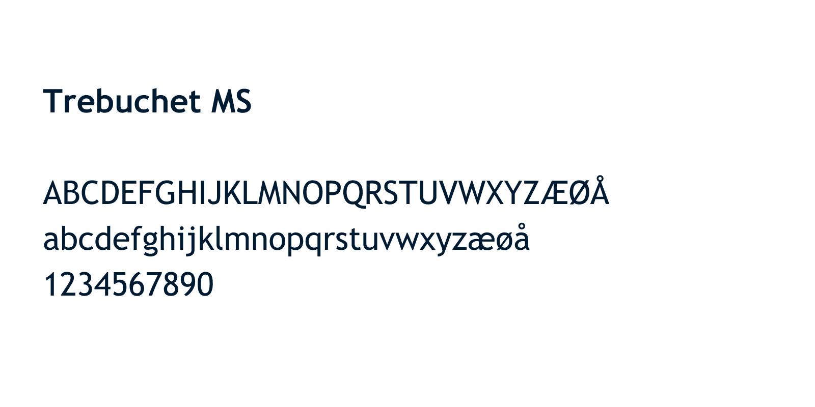 Typography Trebuchet MS