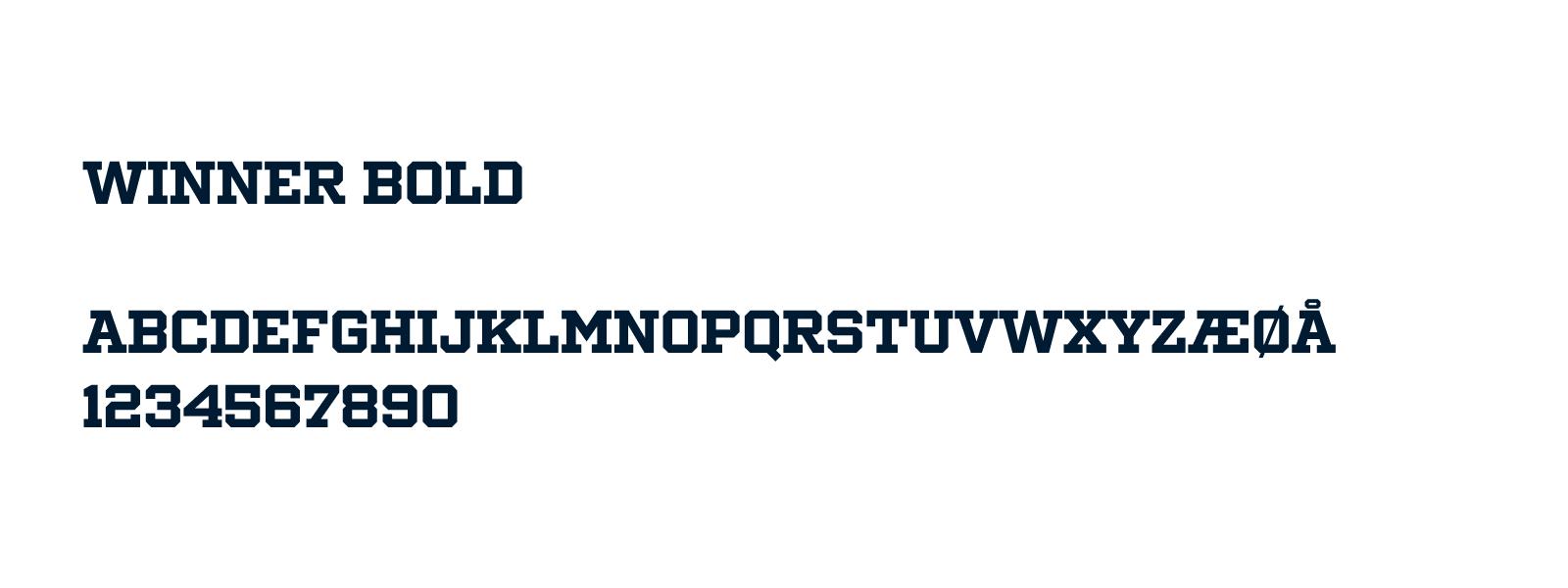 Typography Winner Bold